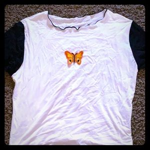 Butterfly crop top